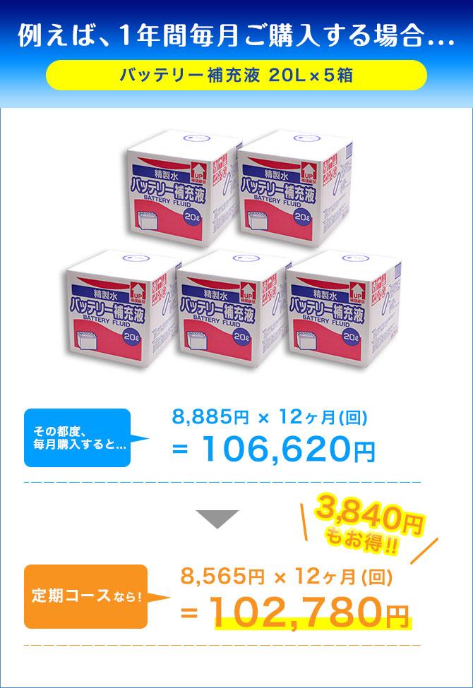 例えば、1年間毎月ご購入する場合 定期コースなら1,956円もお得!!
